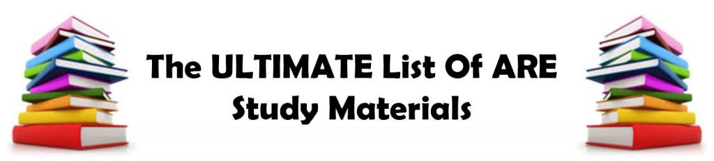 Ultimate List of ARE Study Material for the Architecture Registration Exam