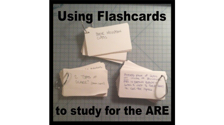 architecture registration exam flashcards