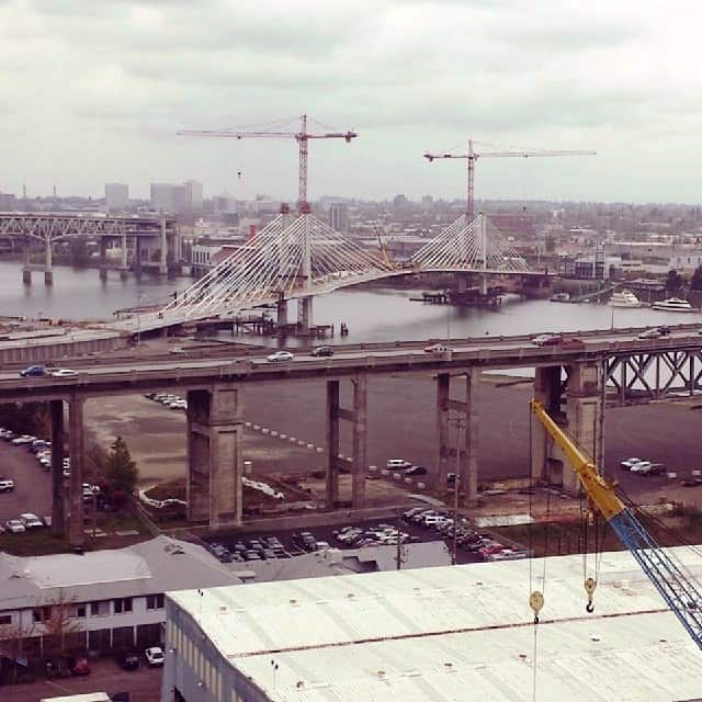 This is the new bridge. They are almost done.