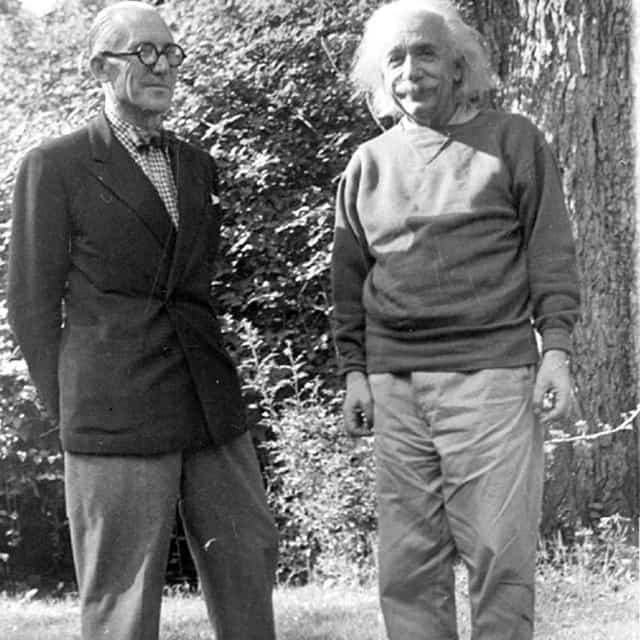 Le Corbusier chillin with Albert Einstein!!! I found this in my archive today.