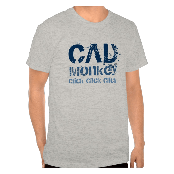 Cad Monkey Shirt for an Architect gift