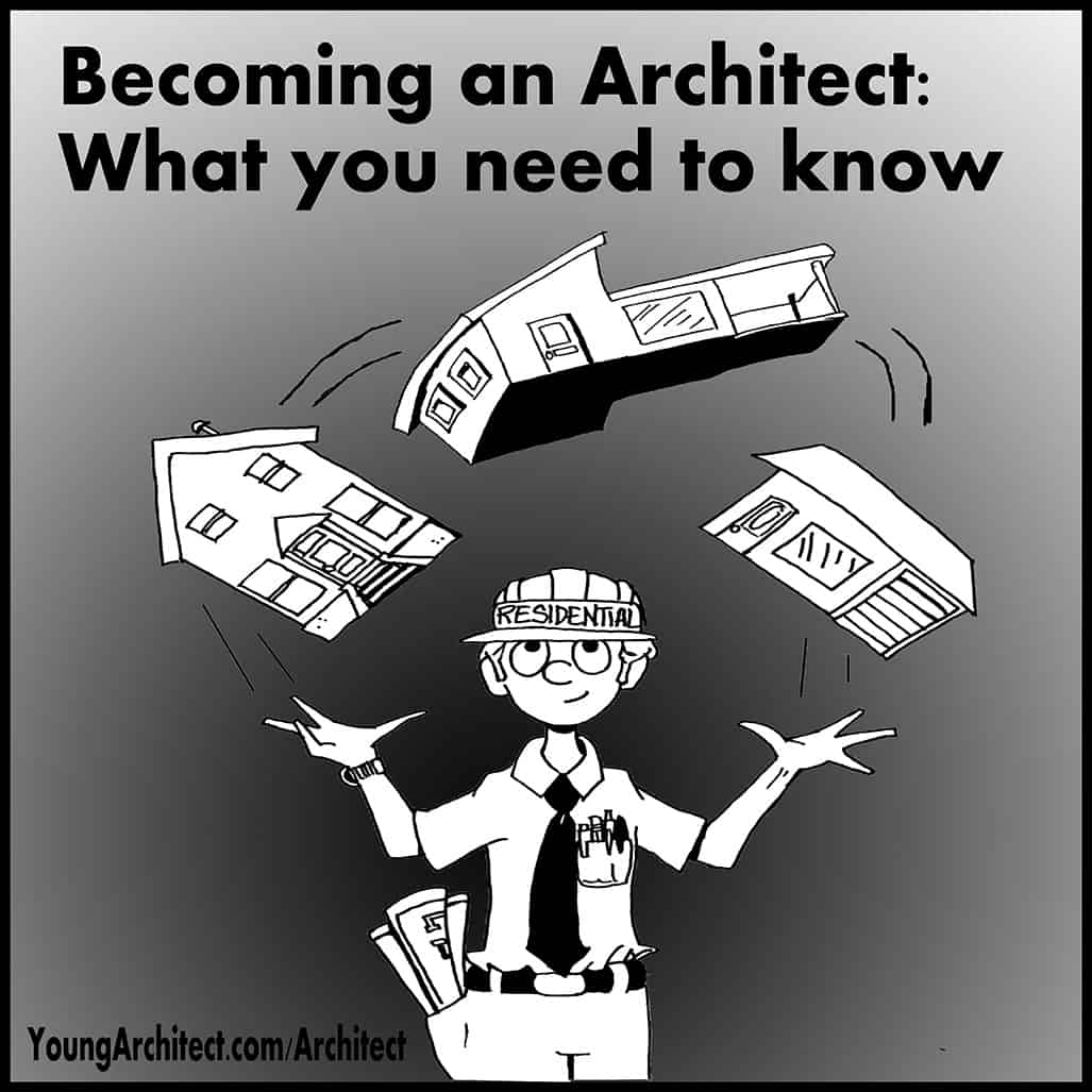Architect juggling houses