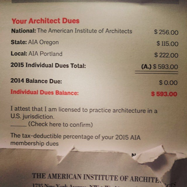 AIA dues