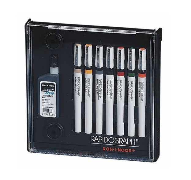 Rapidograph 7-Pen Tech Pen Set