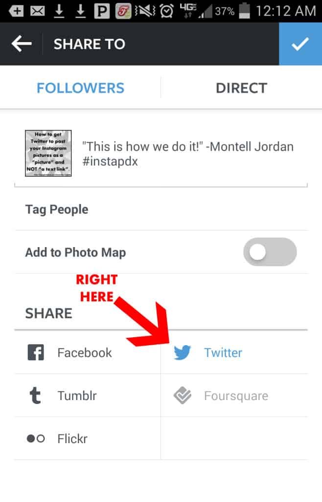 How to Post Instagram Pictures to Twitter NOT as a Link